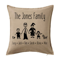 Stick Family - Personalised Cushion