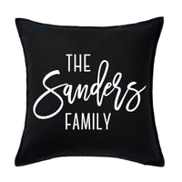 Script Family Name - Personalised Cushion