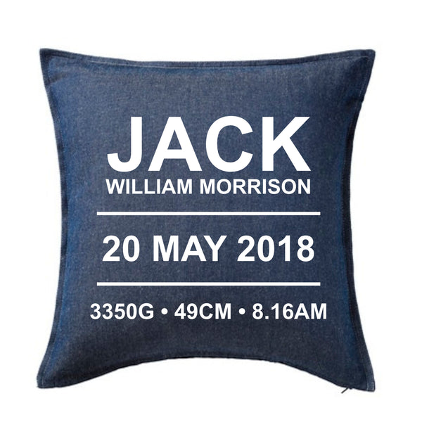 Birth details - Personalised Cushion
