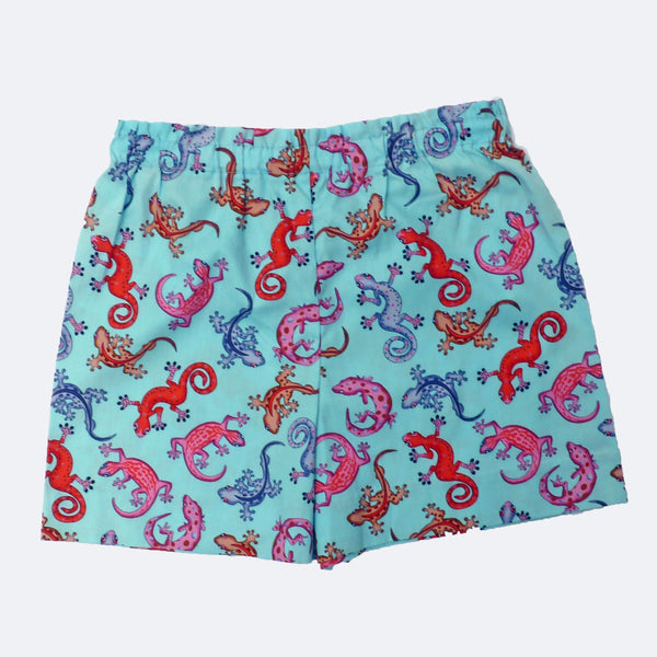 Colourful gecko shorts