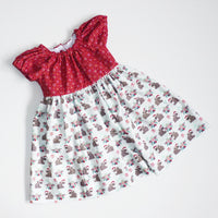 The Leah Dress (Christmas version) - Choose Your Fabric