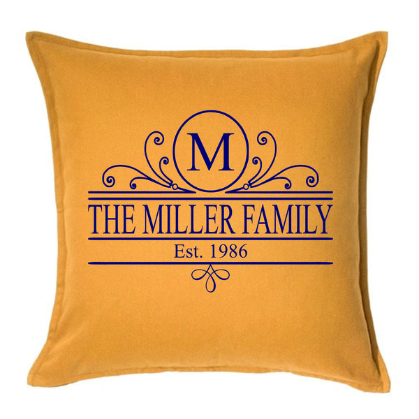 Flourish Family Name - Personalised Cushion