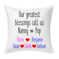 Grandparents' Blessings - Personalised Cushion