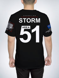 Area 51 map AREA51 ALIEN RAID STORM CREW TEE SHIRT