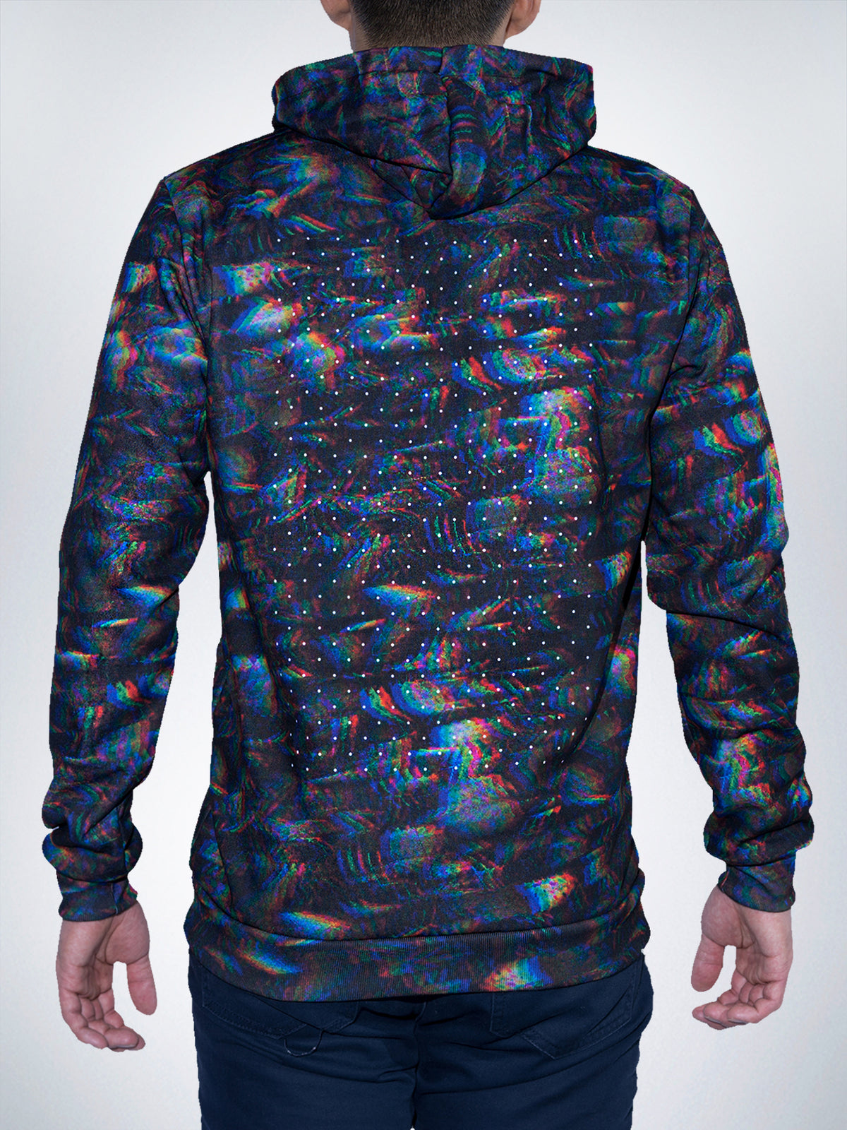 Digileaf Hoodie Sweater Trippy Mens Womens Rave Festival EDM