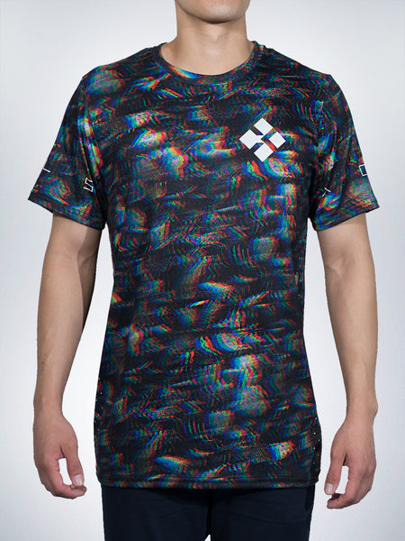 Digileafs men Tees shirts tops Trippy Rave Festival EDM vapor glitch