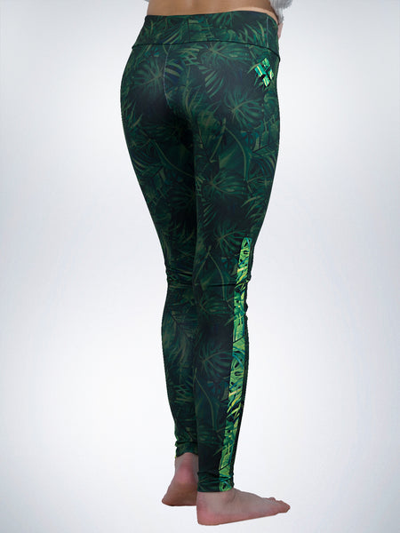 Jungle Xclusive womens legging yoga pant tropical animal amazon green sport