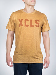 Kit Fox Xclusive crew tee mens desert sand gold sport maps