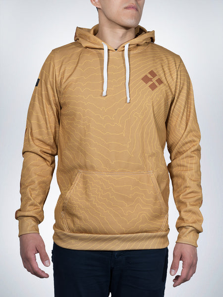 Kit Fox Xclusive hoodies pullover sweater desert sand gold sport maps