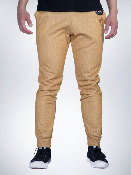 Kit Fox Xclusive jogger pant sweatpant desert sand gold sport maps