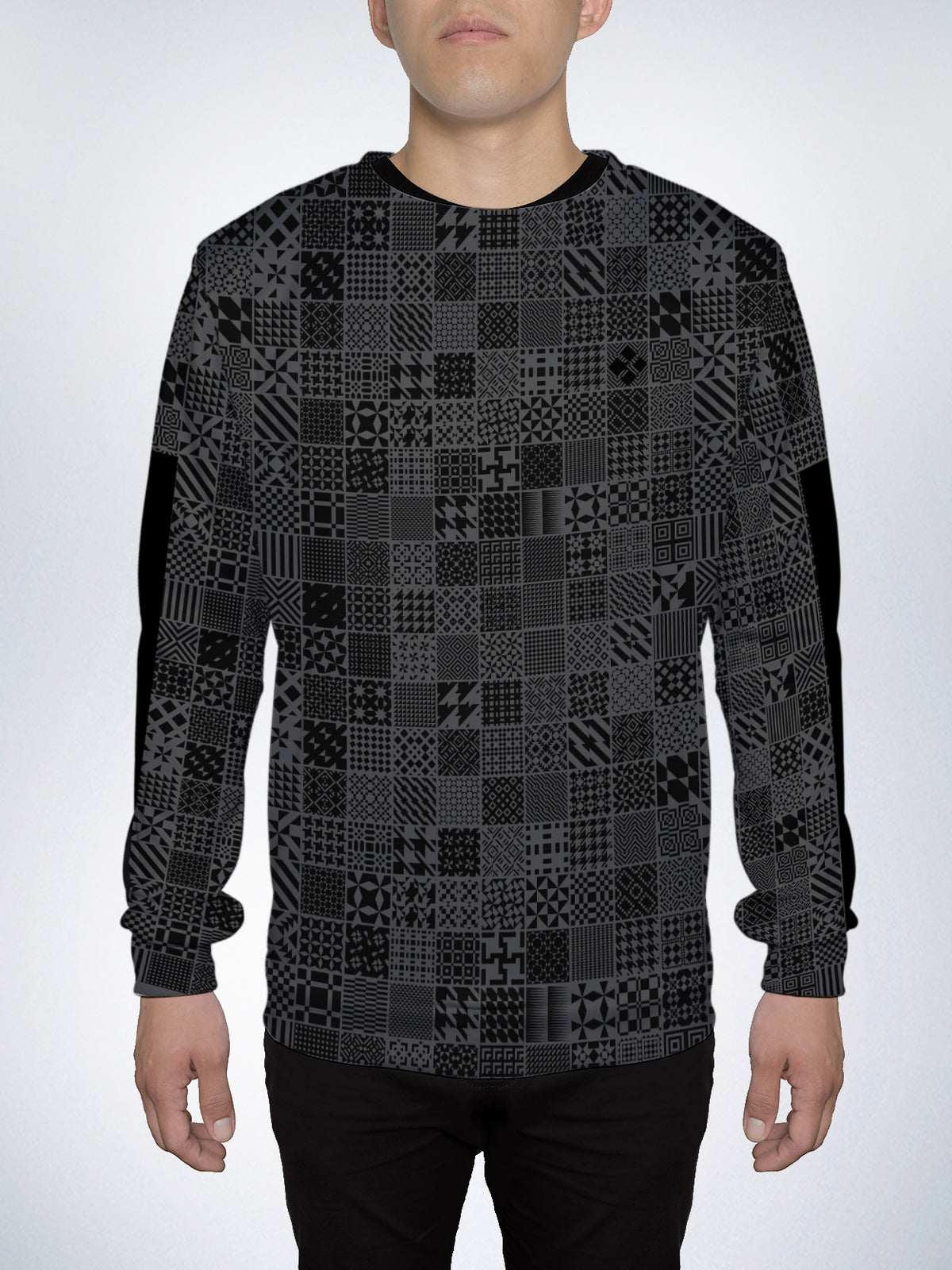 Patterns Crew Sweater