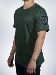 Hunter Xclusive mens shirt crew tee Camo military jager camouflage green