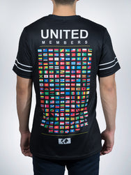United Members Xclusive mens crew Tees shirts tops retro world flags nation