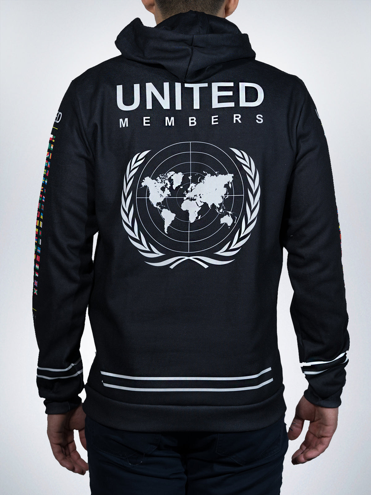 United Xclusive hoodies pullover sweater retro nations flags world leader