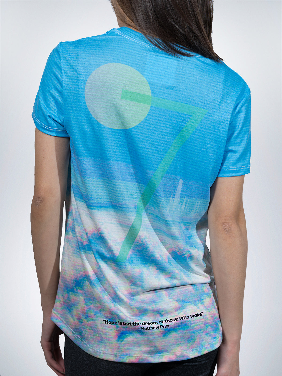 Wavy Clouds Xclusive Women Tees shirts tops retro EDM TRIPPY vapor wave
