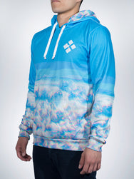 Wavy Clouds Xclusive hoodies pullover sweater retro EDM TRIPPY vapor wave