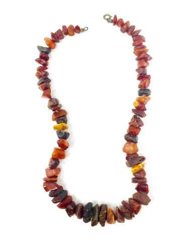 Antique Art Nouveau Era Baltic Amber Beaded Necklace