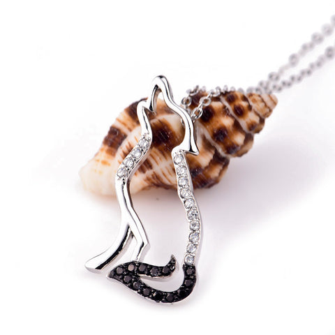 925 Sterling Silver Wolf Necklace
