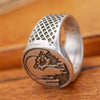 Image of Antique Silver Talisman Wolf Ring