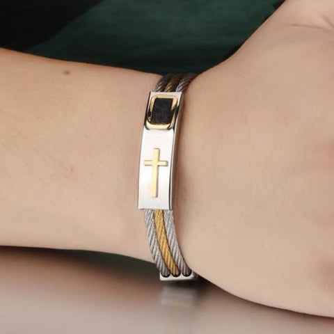 Cross Bracelet Stainless Steel
