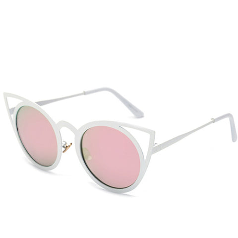 Colorful-Lens Cat Eye Sunglasses