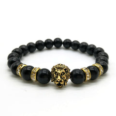 Golden Bright Black Lion Bracelet