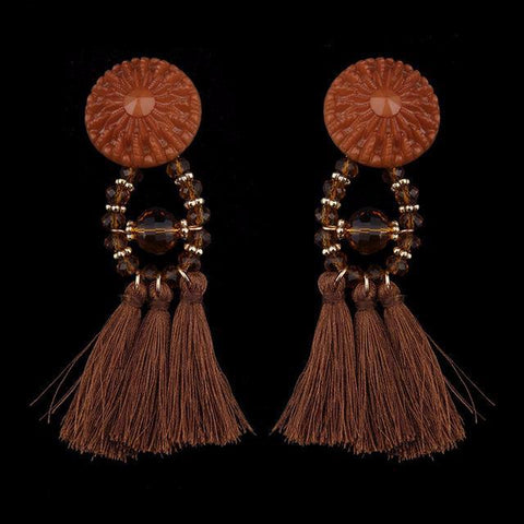 Ethnic Vintage Long Fringe Earrings