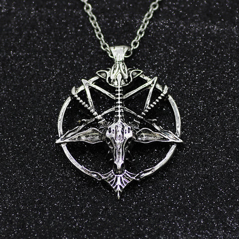 Pan God Skull Goat Head Pendant Necklaces