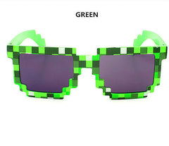 Minecraft 8 bit Pixel Women Men Sunglasses