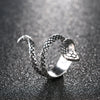 Image of Silver Heavy Metals Punk Rock Snake Ring