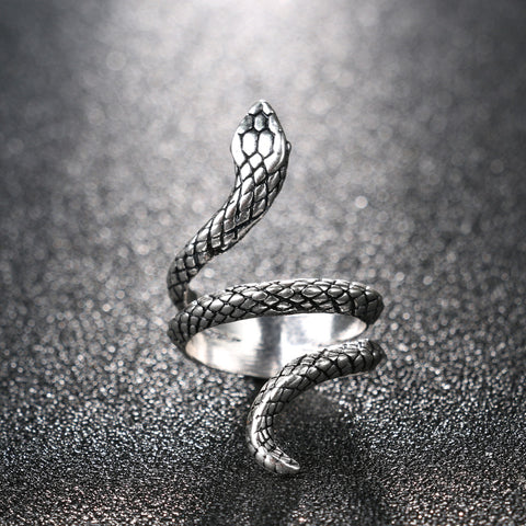 Silver Heavy Metals Punk Rock Snake Ring