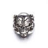 Image of Men's Skull Flower Biker Zinc alloy Ring