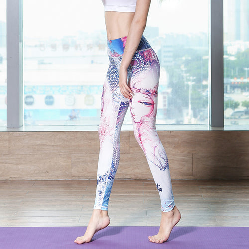 Yoga Sports Pants Sexy Tall waist Stretched Gym Clothes