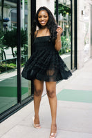 Bella Noir | Tulle Babydoll Dress