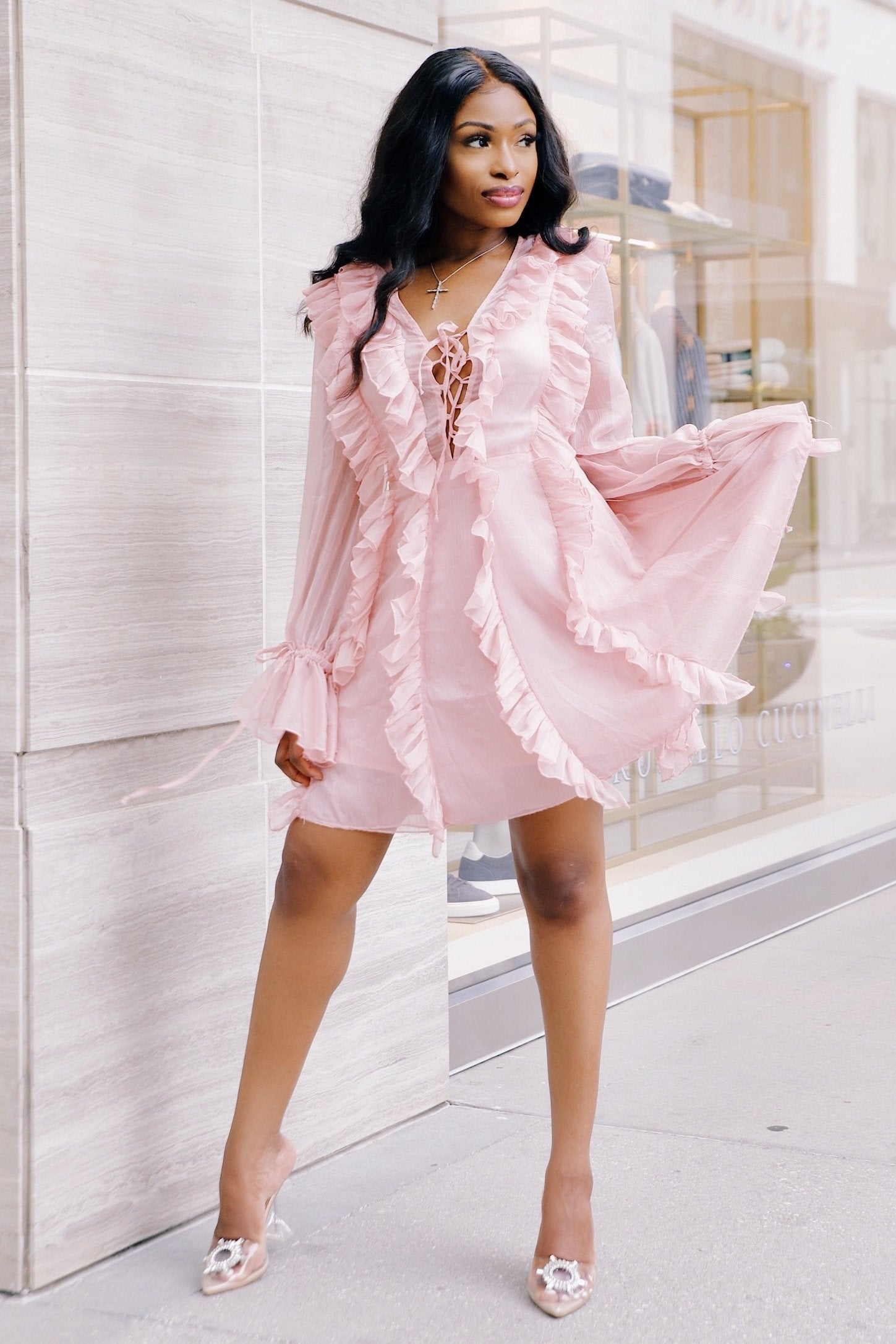Make Me Blush | Ruffle Dress