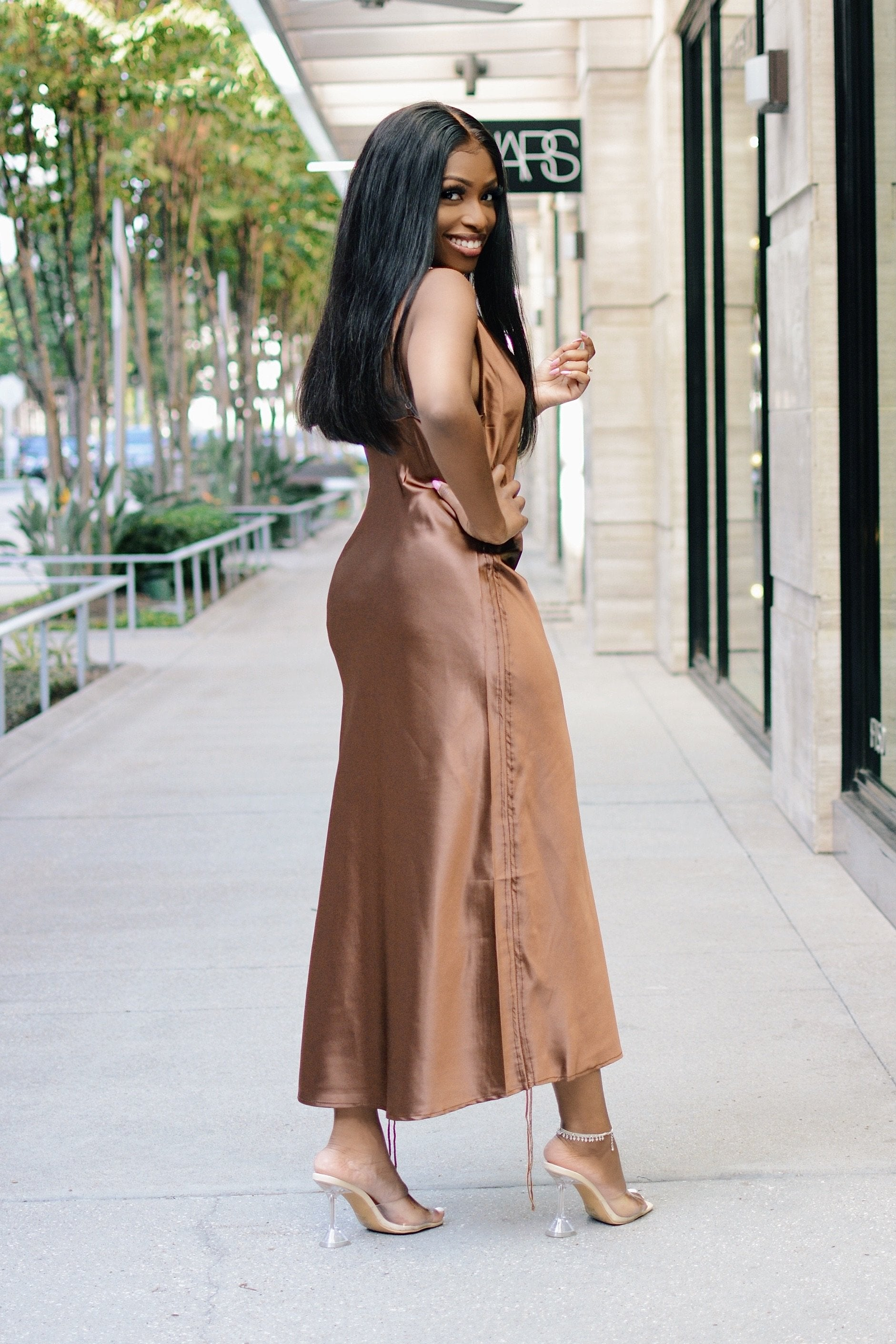 Easy Slip | Drawstring Slip Dress