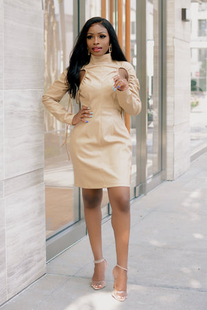 Shea Butter Baby | Vegan Leather Dress