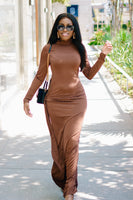 Brown Sugar | High Slit Dress