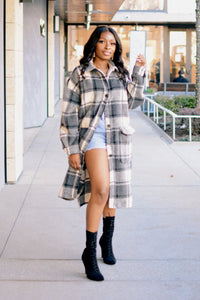 Plaid Out | Oversized Plaid Jacket (Multiple Colors)