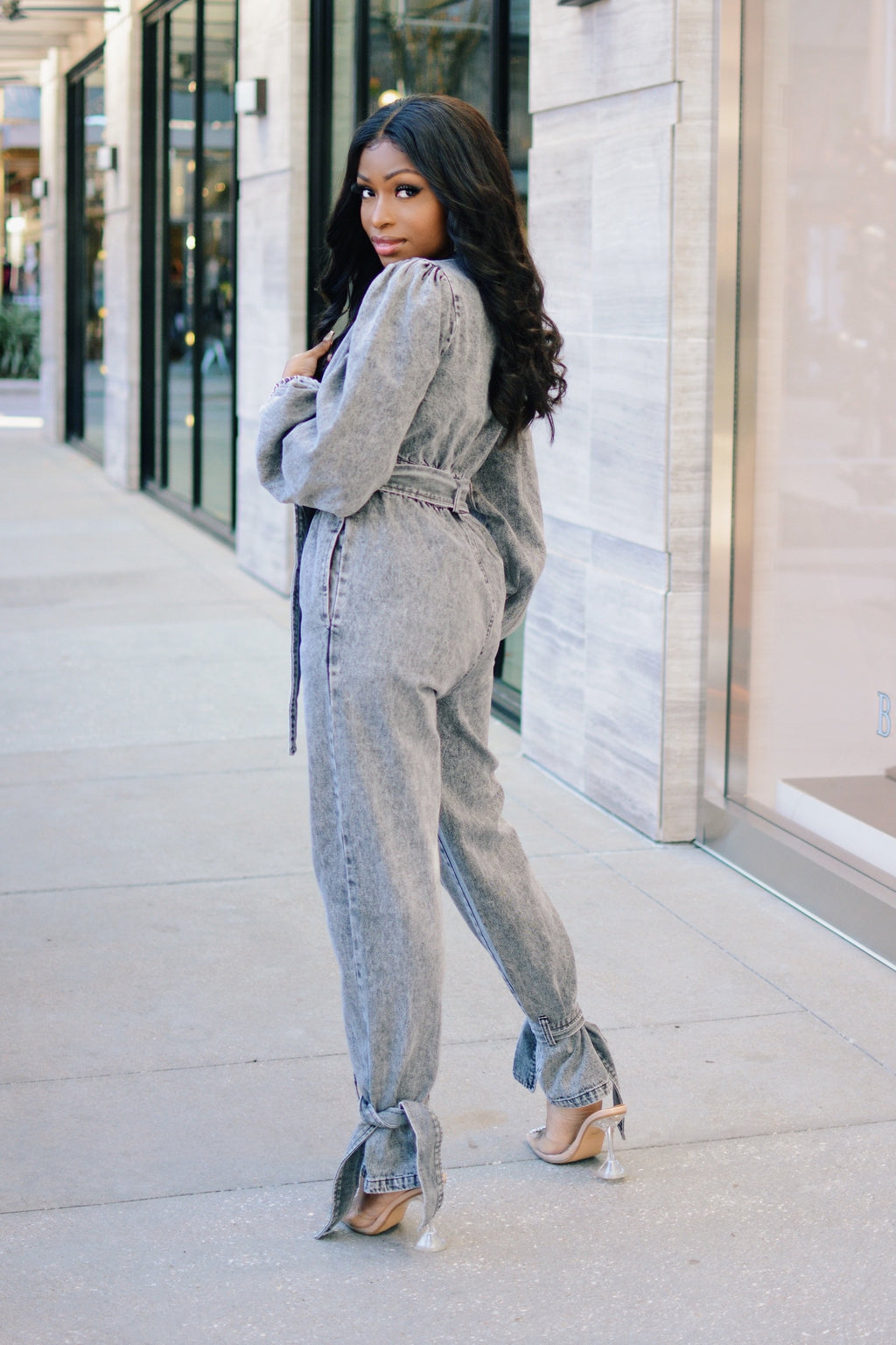 Grey Matter | Denim Jumpsuit