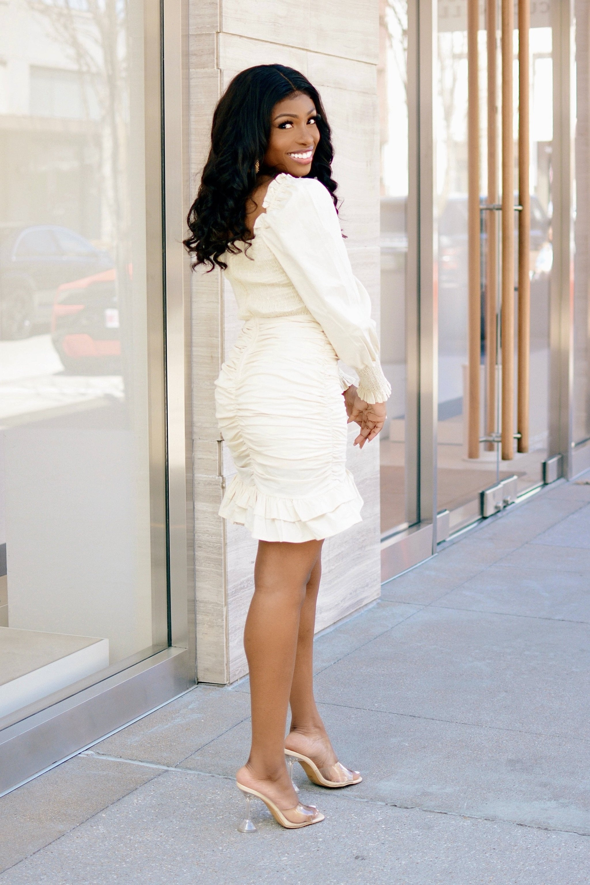 Heartbreaker | Ruched Mini Dress