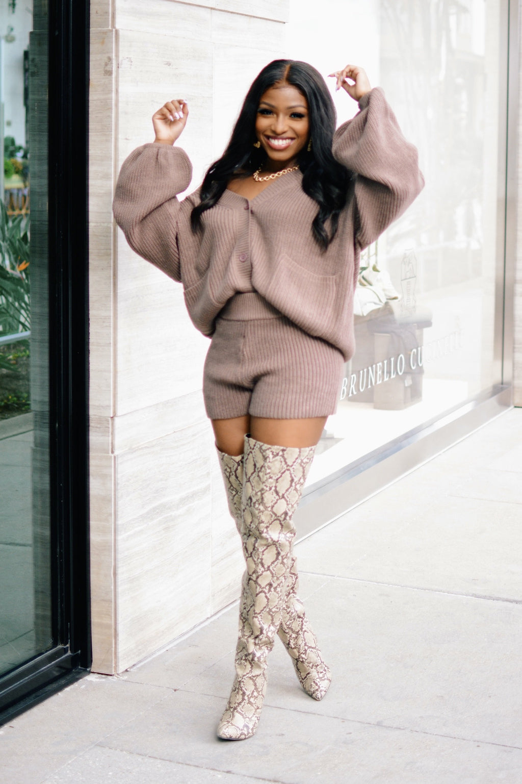 Hella Cozy | Sweater Shorts Set