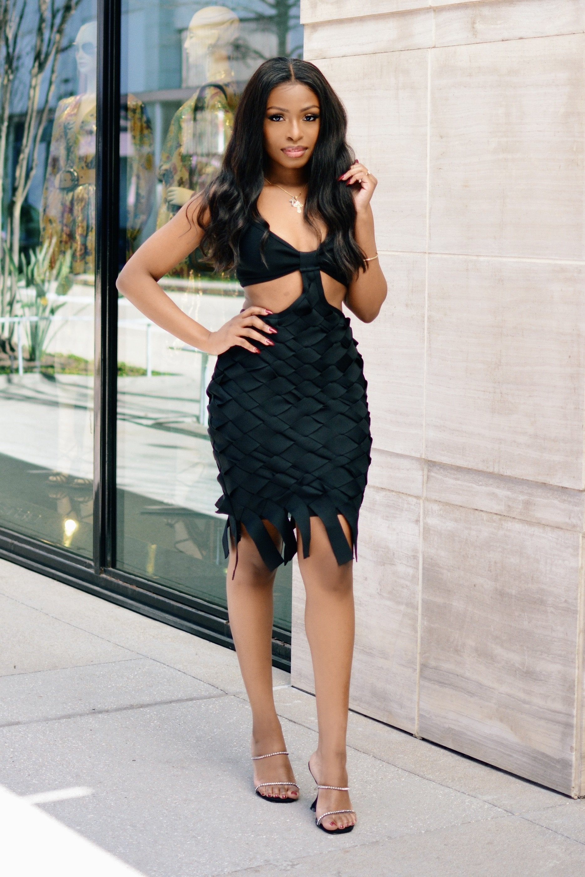 Pick Me Up At 8 | Cut Out Bandage Dress