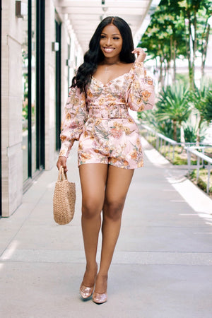 In Full Bloom | Floral Shorts Set