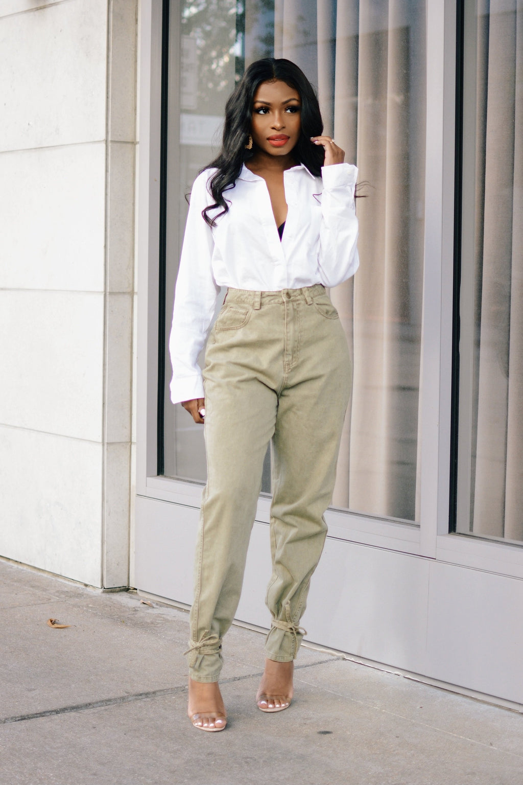 Made For This | Khaki Denim Pants