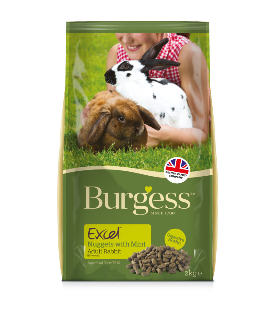 Burgess Excel Adult Rabbit Nuggets with Mint 2kg Bag