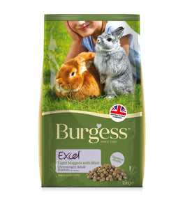 Burgess Excel Light Rabbit Nuggets with Mint 2kg bag