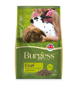 Burgess Excel Adult Rabbit Nuggets with Mint 4kg Bag