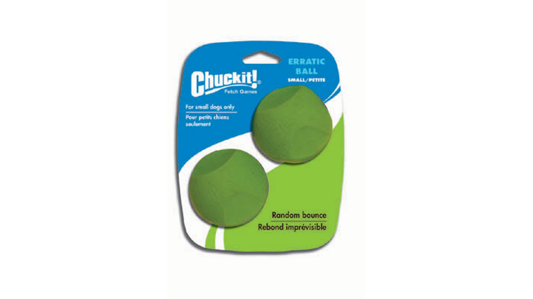 Chuckit Erratic Ball Small - 2pk