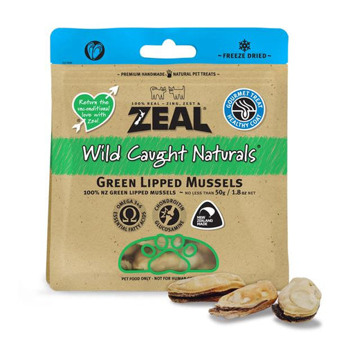 Zeal wild caught mussels dog treat